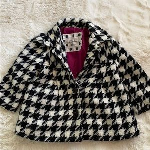 🎀Cherokee🎀 Hounds Tooth infant coat size (18m)